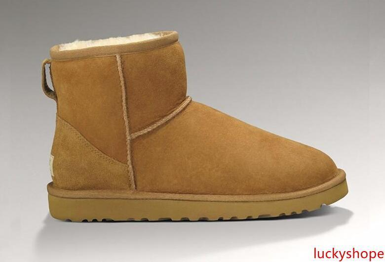 Venta caliente de Australia nieve de las mujeres de las mujeres botas de nieve 100% del tamaño original de cuero de vaca los cargadores del tobillo los cargadores calientes del invierno Mujer de zapatos 35-44