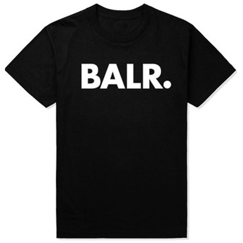 Mens T Shirts Balr Street Tide Brand Short-sleeved Round Neck Loose Short-sleeved Cotton Men's Personality Male T-shirt