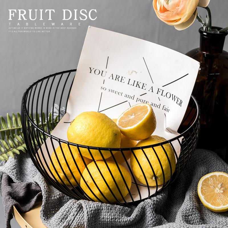 Venda quente novo armazenamento Nordic cestas Art Snacks doces de frutas cesta para Sala Área de Trabalho Kitchen Organizador Basket