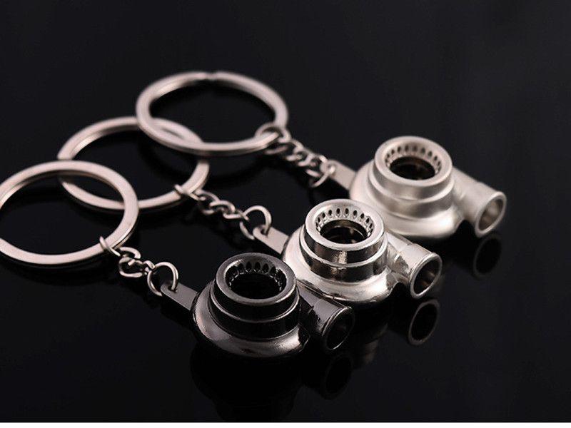 Turbo Keychain Automobile Modification Turbocharger Engine Shaped Metal Key Chain Car Keying Holder Car Styling Decoration Gift