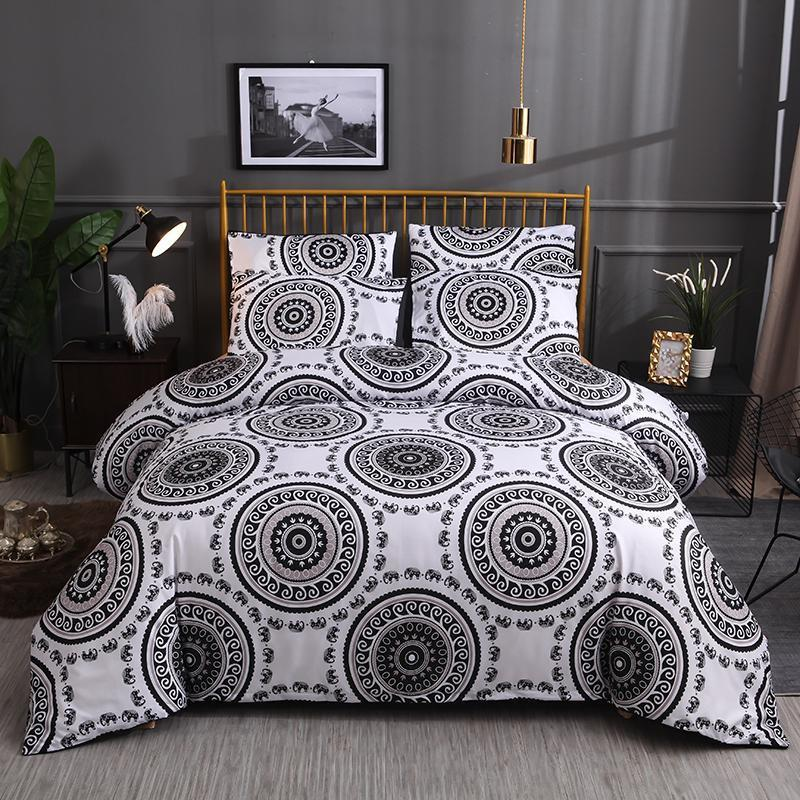 45 Bedding Set Printed Duvet Cover King Queen Size Sets Quilt