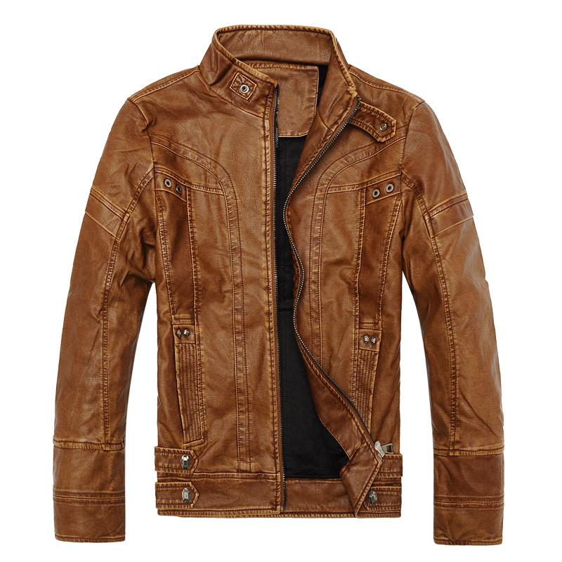 오토바이 가죽 자켓 남성 봄 가을 스타일 플러스 사이즈 XXXL 패션 PU 가죽 두꺼운 코트 남성 M-3XL 블랙 브라운 옐로우