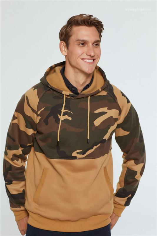 Frühling Hoodies Camouflage Mens Designer Hoodies arbeiten mit Kapuze beiläufige lange Hülsehoodies Teenager-Männer