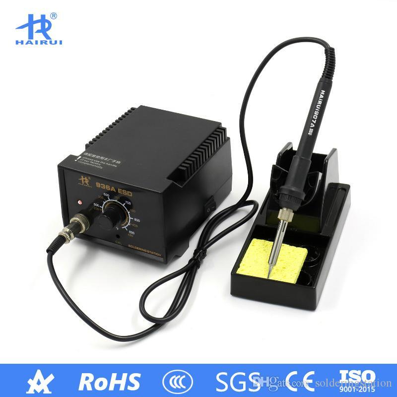 HAIRUI 936A 110 V / 220 V Demir Kaynak Istasyonu Ayarlanabilir Kurşunsuz 60 W 936 Lehimleme İstasyonu