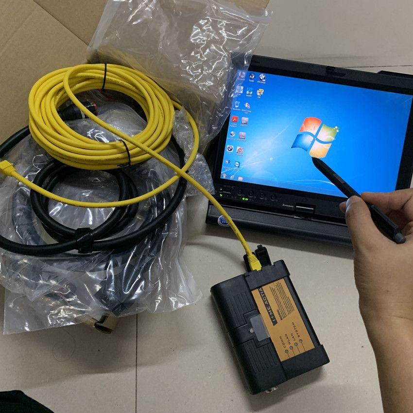 Strumento diagnostico BMW ICOM A2 B C con laptop X201T I7 4G Touch Screen Computer HDD 1000 GB Cavi Full Set Pronto per l'uso