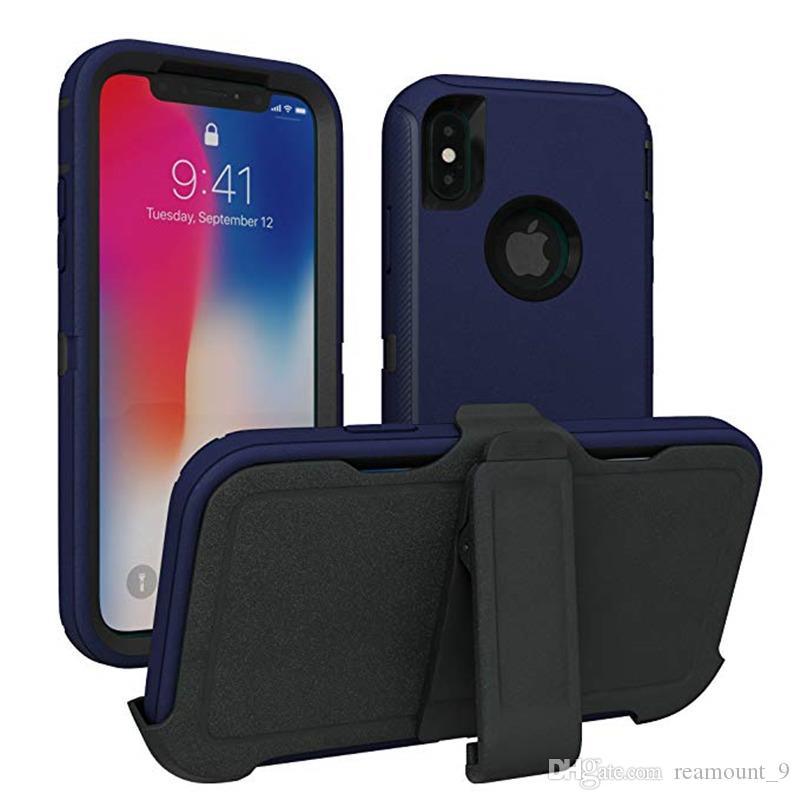 Pour iPhone 11Pro Max Defender téléphone mobile cas avec clip Retour Crash-Proof Hybrid Cover pour iPhone XS MAX