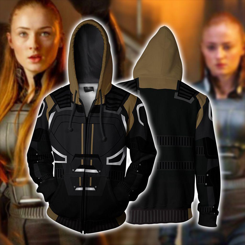 Dark Phoenix Cosplay Hoodie Sweatshirt Costume Zipper coat jacket X-Men