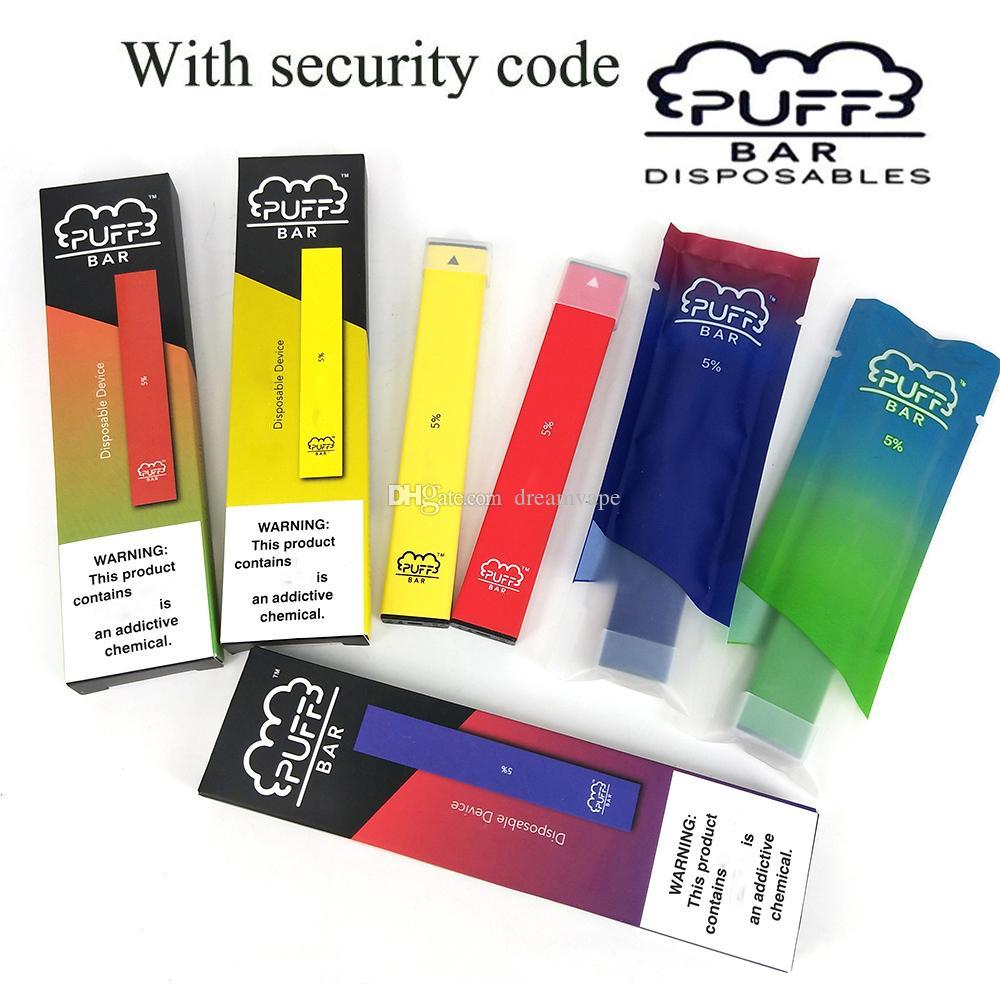 Qualitäts-Puff Bar Starter Kit Einweg Vape Pen 1,3 ml Pod 280mAh Akku Gerät leer Pod mit Sicherheits-Code Vaporizer Pens