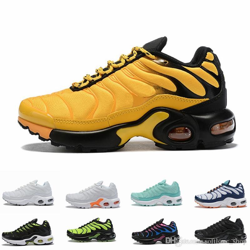 NIKE AIR MAX TN 2019 Çocuklar TN Artı lüks Tasarımcı Spor Koşu Ayakkabıları Çocuk Boy Kız Eğitmenler Tn Sneakers Klasik Açık Toddler Sneakers