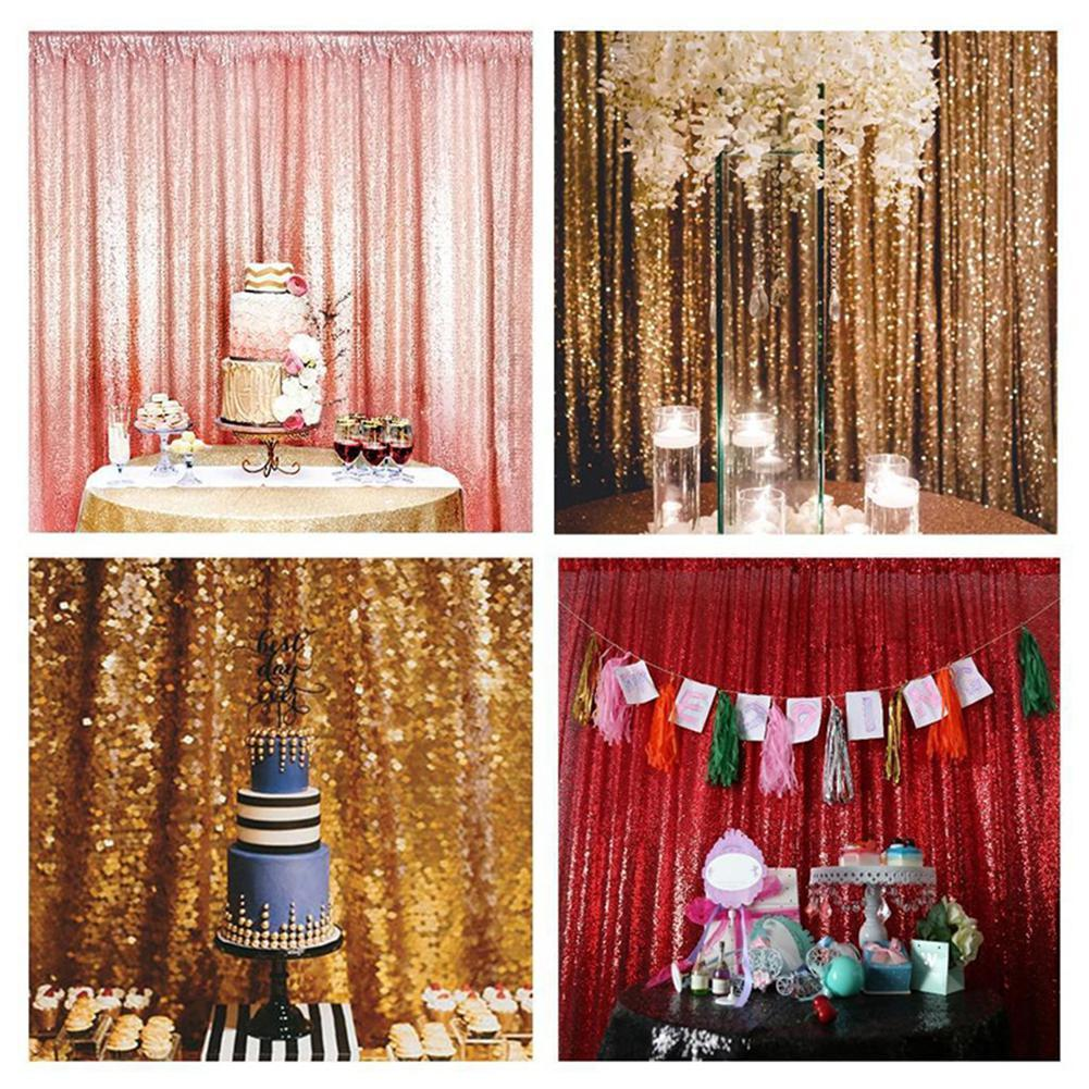 HobbyLane Shimmer Sequin restaurant rideau de mariage Photobooth Backdrop Party Photographie Contexte