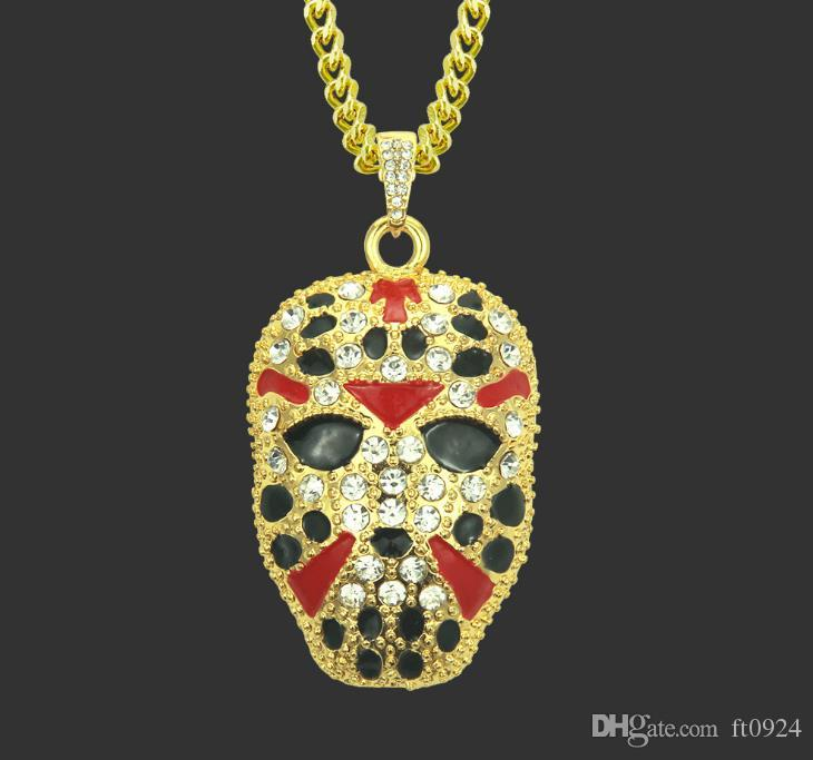 Блокбастер европейская и американская мода личность хип-хоп ожерелье рок лицо живопись мужчины преувеличивают бутик кулон ожерелье