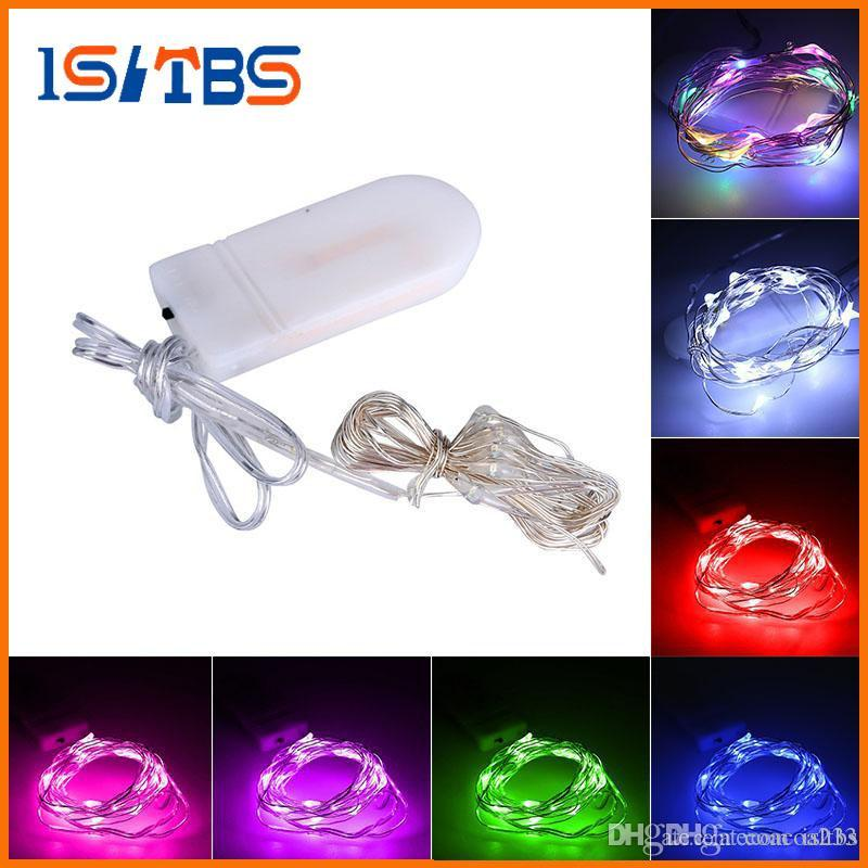 2M 20LEDs led string CR2032 Battery Operated Mini Light Copper Silver Wire Starry LED Strips For Christmas Halloween Decoration