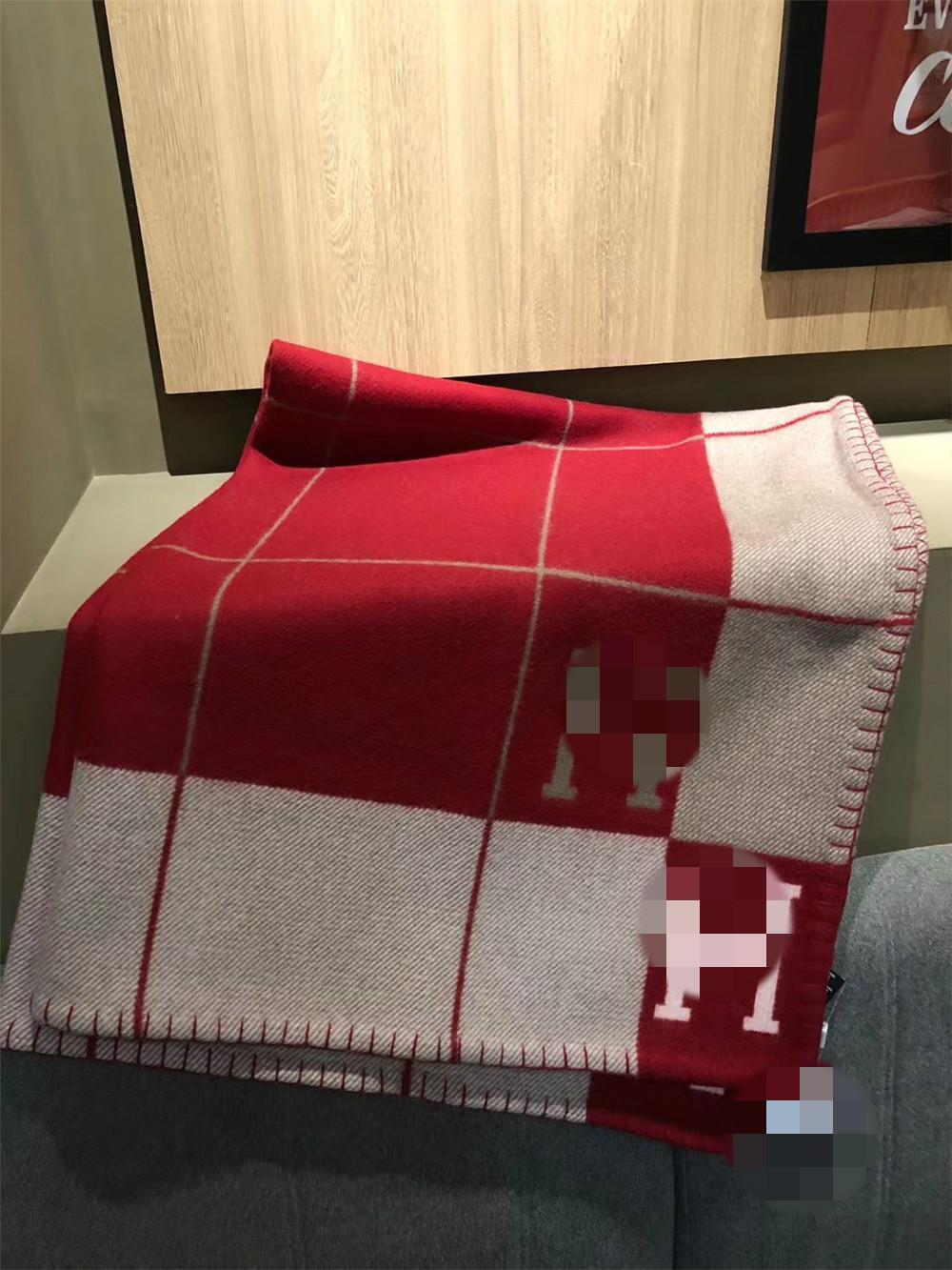 Nouveau design 90Wool Thicken H Couverture Red Stripe 5 couleurs Big Size Accueil Hiver Voyage Préchauffage couvertures de tous les jours 170 * 140cm __gVirt_NP_NN_NNPS<__ cadeau de Noël