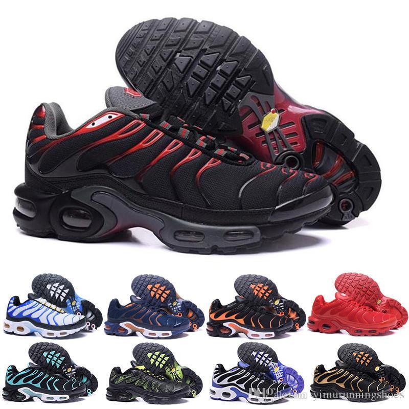 Tn plus  max  خصم هايت الجودة الرياضة الاحذية جديد TN الرجال أسود أبيض أحمر رجل تنفس عداء حذاء الرجل المدربين أحذية تنس