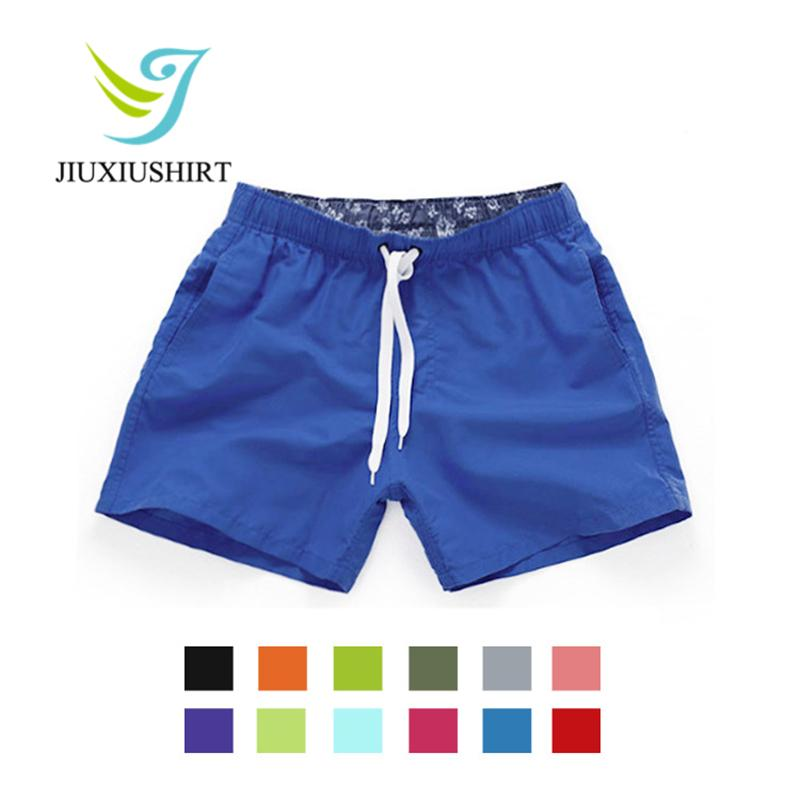 Men Solid Beach Shorts Quick Dry Running Shorts Swimwear Swimsuit Swim Trunks Beachwear Sports Board Boxer Briefs