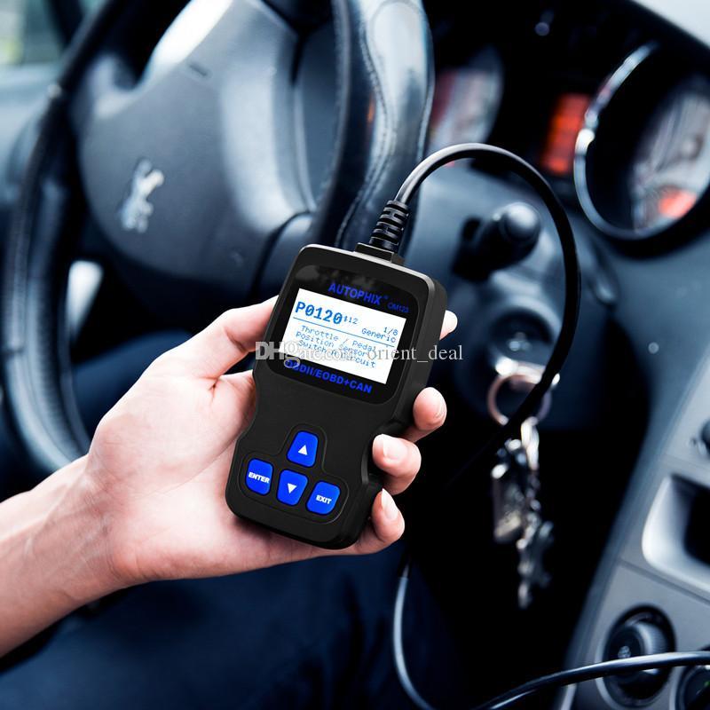 Herramienta de diagnóstico del carro OBDMATE OM123 OBDII OBD2 de código del coche de múltiples funciones del escáner lector de reparación de automóviles Instrumento envío gratis