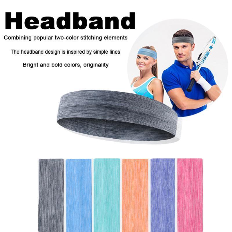 Cotton Sweatband Sports Unisex Sweat Headband Runnning Basketball Yoga Hair Band Elastic Head Band Sport Safety