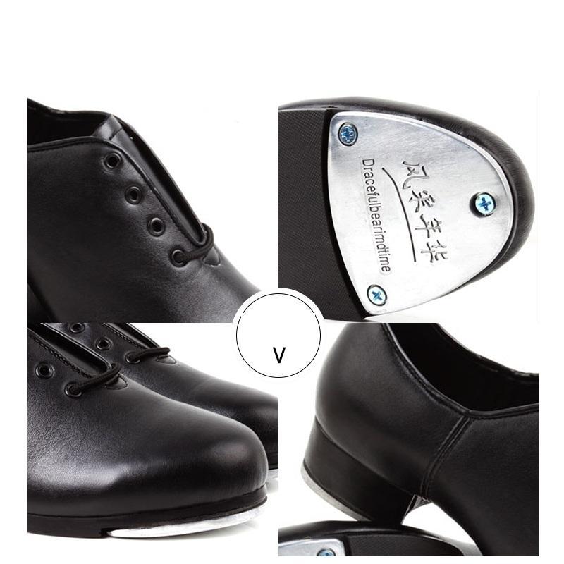 Musluk Ayakkabı Kadın saltation Yumuşak Alt Damga Spor Erkek Ayakkabı Erkek Dans Harcama Dans Doğal Deri Ayakkabı Kadın Sneakers adım