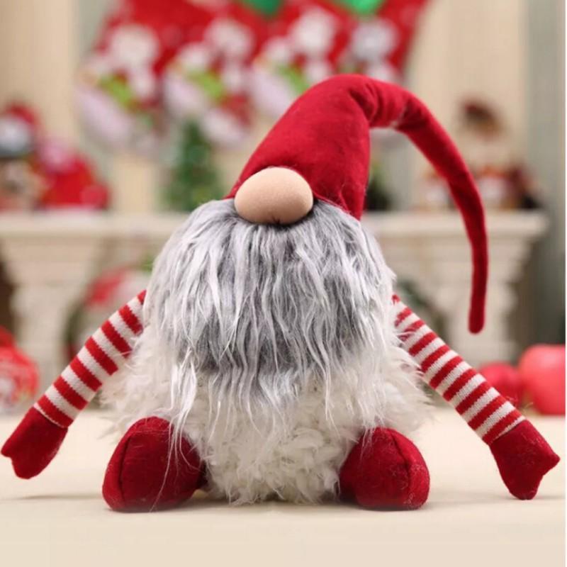 Sevimli El Yapımı Noel Noel Baba Dekorasyon Peluş Noel Komik Gnome Peluş-Noel Çocuklar Hediye