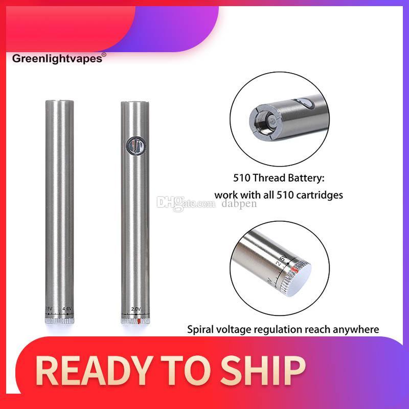 In basso Twist tensione variabile della batteria Twist Spinner 2.0V-4.0V 350mAh Batteria forma per 510 cartucce CE3 CELL