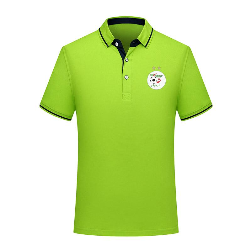 2020 Cezayir Milli Takım Futbol Polo gömlek Futbol kısa kollu polos spor eğitim Polos futbol futbol T-Shirt Jersey erkek Polos