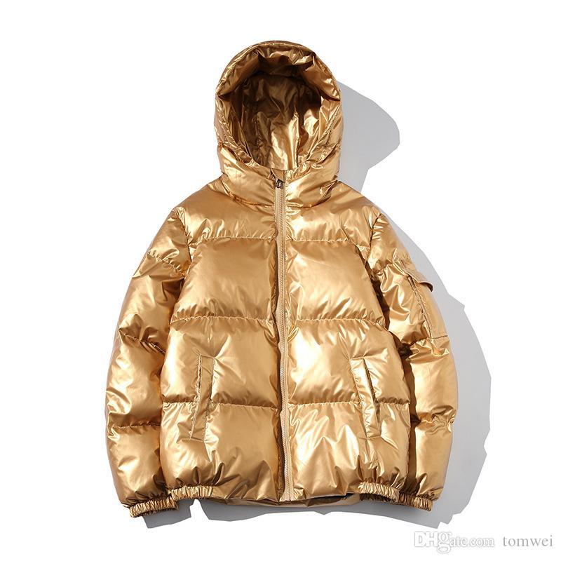 2019 Winter-Hell-Mantel-Männer Winter-Daunenjacken mit Kapuze Brot Mantel Jugend Parkas starken warme Windjacke Fashion Street Plus Size 5xl