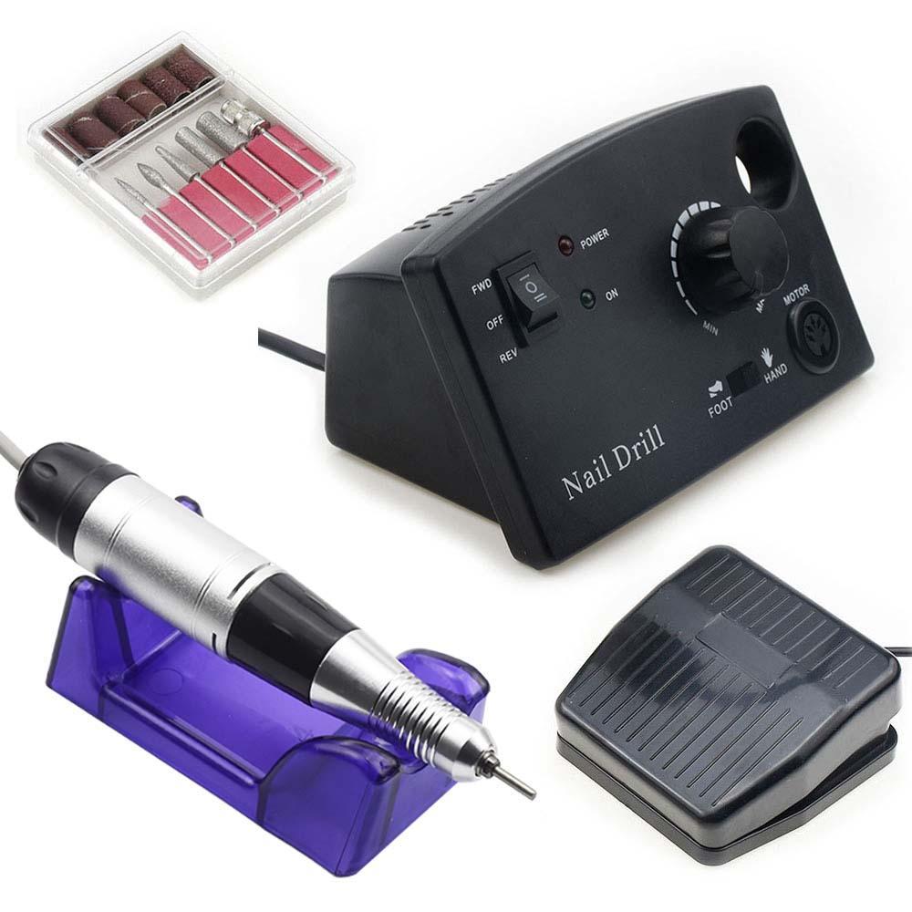 35000RPM Drill Drill Máquina Manicure para Profissional Manicure Pedicure Elétrica Ferramentas Ferramentas de Ferramentas Perfuradas Polonês Bits Ferramentas Kits