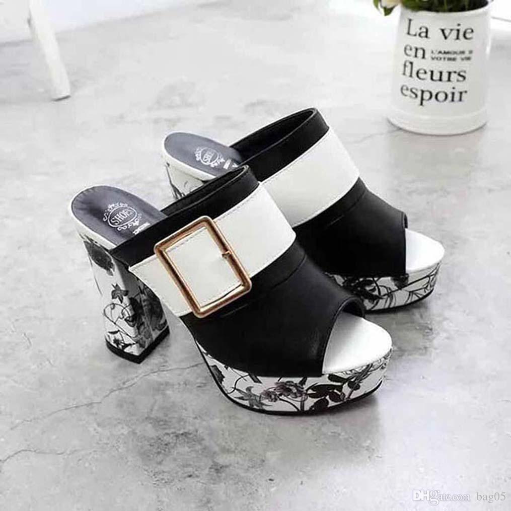 chaussures femmes sandales à talons qualité pantoufles de sandales Huaraches tongs chaussures Mocassins Pour pantoufle bag05 PL314