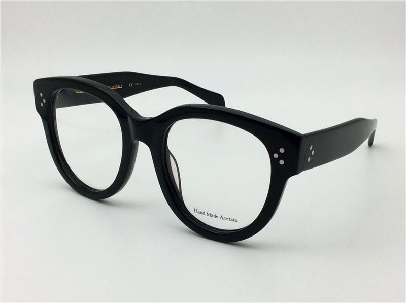 nova retro óculos CE41755 grande quadro de moda gato olho óptico para mulheres full frame top quallity com caso designer italiano