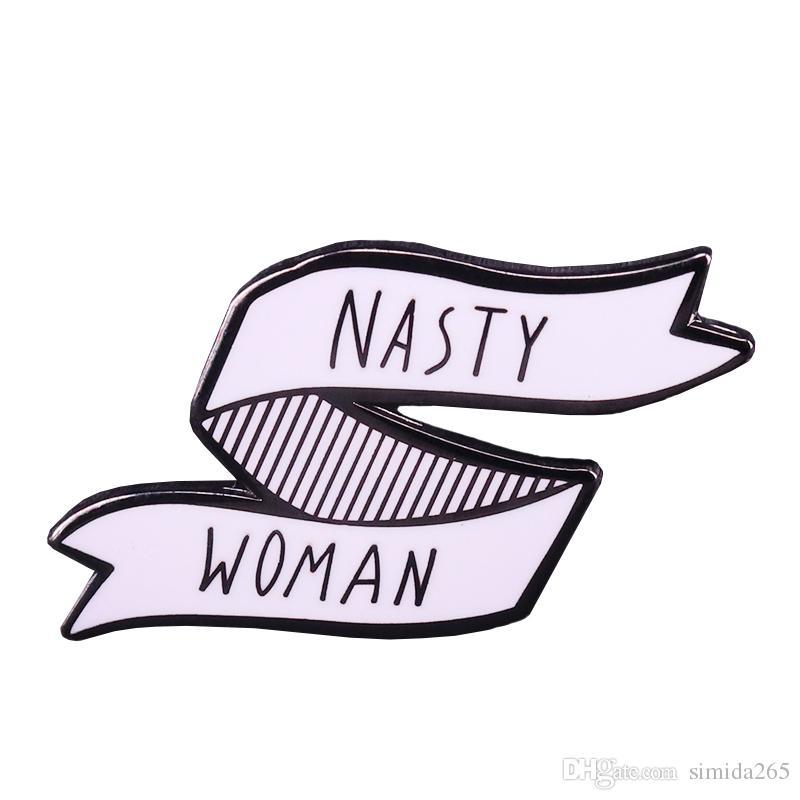 Desagradável mulheres clube broche feminista pinos emblema da bandeira feminismo orgulhoso jóias presente senhoras camisa jaqueta de arte acessório