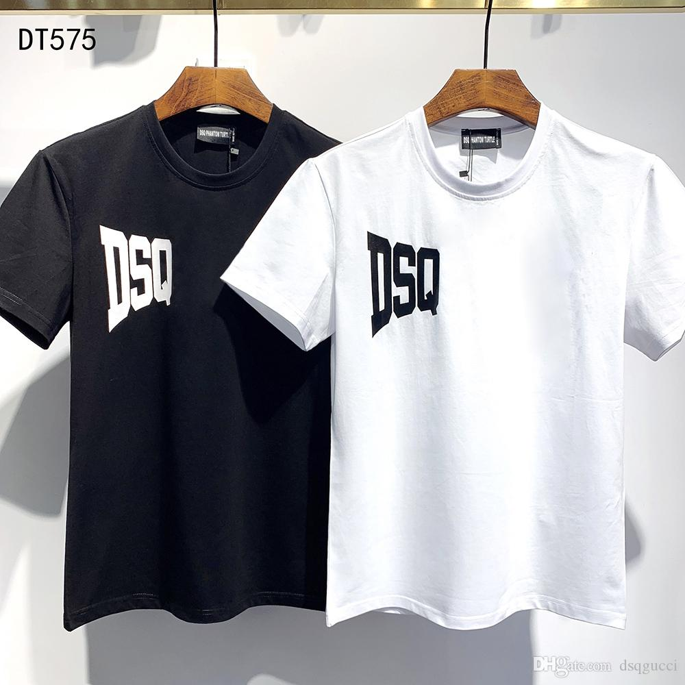 DSQ PHANTOM TURTELT 2020SS neue Mens Designer T-Shirt Paris Mode-T-Shirts Sommer-DSQ-Muster-T-Shirt Männer Top-Qualität aus 100% Baumwolle Top 6865