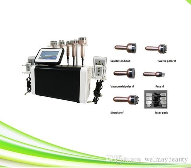 1 최신 6에서 1 40K Cavitation 진공 RF 초음파 Cavitation RF 슬리밍 기계