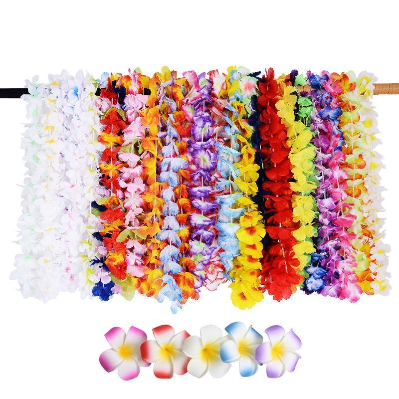 Clips de la flor artificial de Navidad Garland Leis la guirnalda de pelo collar de la playa de Hawaii Fun Party Supplies DIY regalo de la decoración CJ191223 etapa