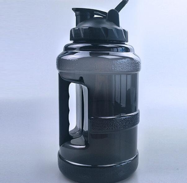 2.5L garrafa de água grande capacidade grande PETG Esporte Jug Handle enorme Hidratar Beber Container ao ar livre da aptidão do curso Gym BPA nw