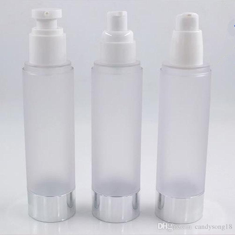 화장품 용기 F1807에은을 사용하는 UV은 진공 펌프 또는 로션 병이 달린 100ml 젖빛 병