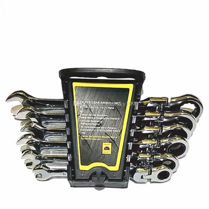 Gears Anahtarı Seti Tuşlar Bisiklet Tork Anahtarı Kombinasyon Anahtarı Araba tamir araçları için ağız anahtar Etkinlikler Ratchet Onarım Araçları set