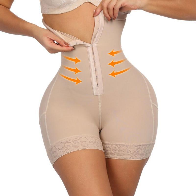 Amante beleza Além disso Shapewear Workout cintura instrutor Corset Bulifter Controle Tummy Plus Size Booty Elevador Puxar Roupa interior Shaper