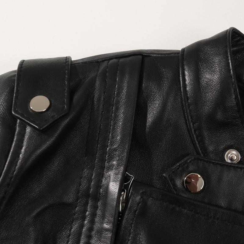 2020 versione autunno di corta Slim femminile moto pelle di pecora era sottile giacca di pelle vera