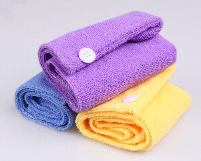 Оптовая смешанный цвет полотенце Wrap купание сухие волосы женские микрофибры полотенце волос сухая шляпа абсорбент быстрое высыхание шапочка для душа
