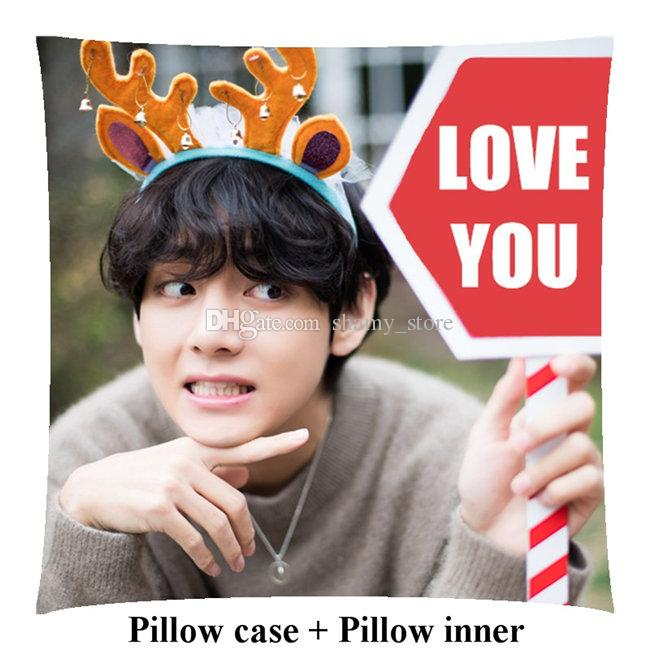 New Boyfriend Kpop Kim Tae Hyung pillows V Customize home Square Pillow Gift 40cm*40cm