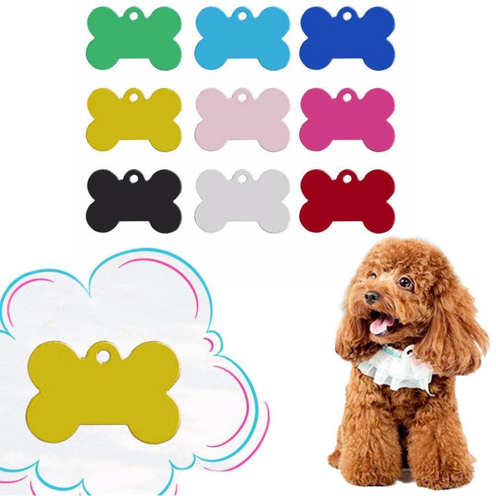 Forma Moda óssea Dog Tag gravado personalizado Cat Nome Telefone personalizados ID Tags brinquedos do cão