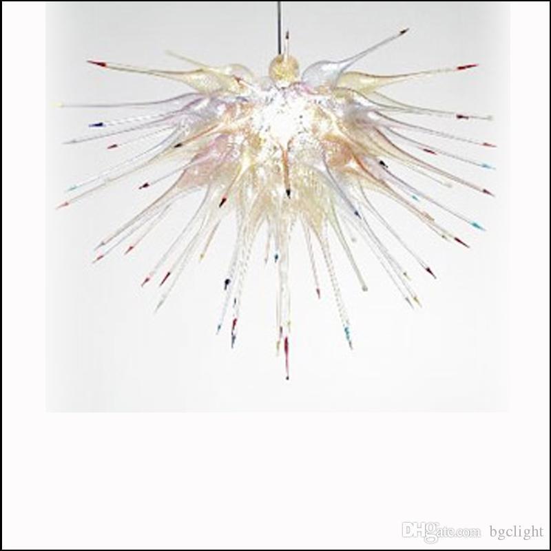 Dale Chihuly Stil Ağız Üflemeli Cam Avize Lambaları Aydınlatmalar KTV Dekor için Tavan Dekoratif El Yapımı Kolye Işıkları