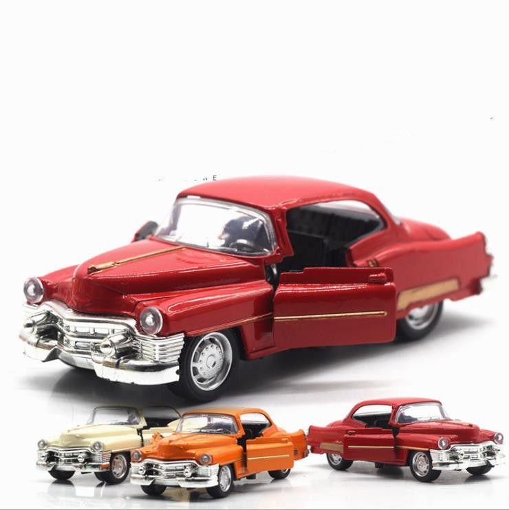 1: 36 сплав тянуть назад модели автомобилей, высокая имитация Кадиллак ретро винтажный автомобиль, металл литья под давлением игрушечный автомобиль, детский подарок, бесплатная доставка Y200317