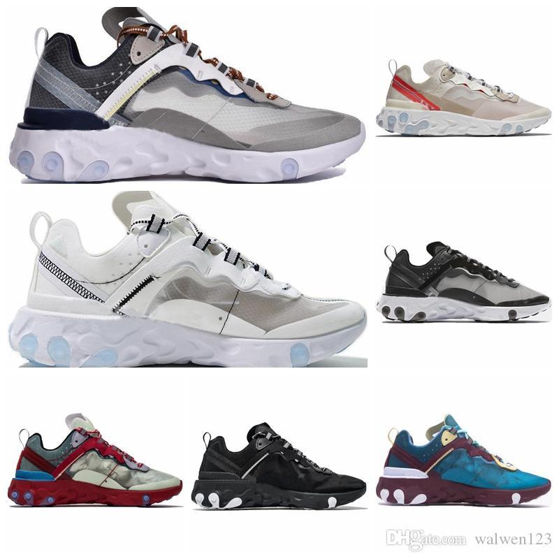 UNDERCOVER x Предстоящий элемент React 87 Pack Белые кроссовки Марка Мужчины Женщины Тренер Мужчины Женщины Дизайнерские кроссовки Zapatos 2019 Новый