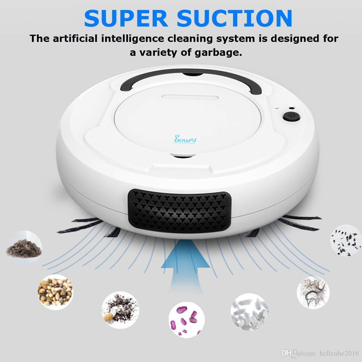 -1800PA 로봇 진공 청소기 다기능 스마트 층 클리너, 3-in-1 자동 충전식 건조 습식 청소기