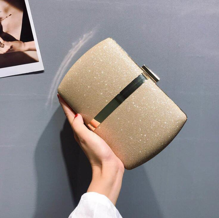 wholesale women handbag simple sequined party dress holding a dinner bag fashion contrast color women chain bag simple women shoulder bag