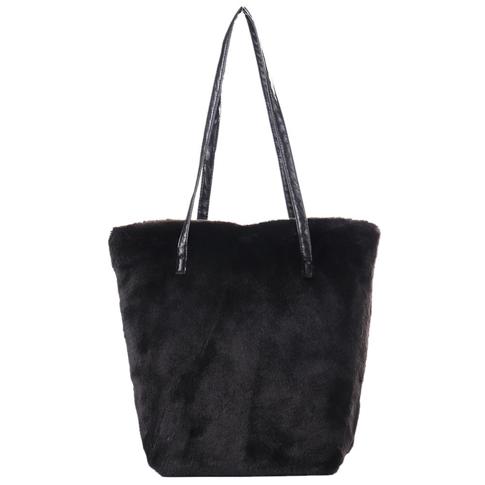 Faux Fur Furry Sling Shoulder Handbag Bag Plush Fashion Top-Handle Hand Purses Bags Causal Tote Ladies Handbags Women Bag
