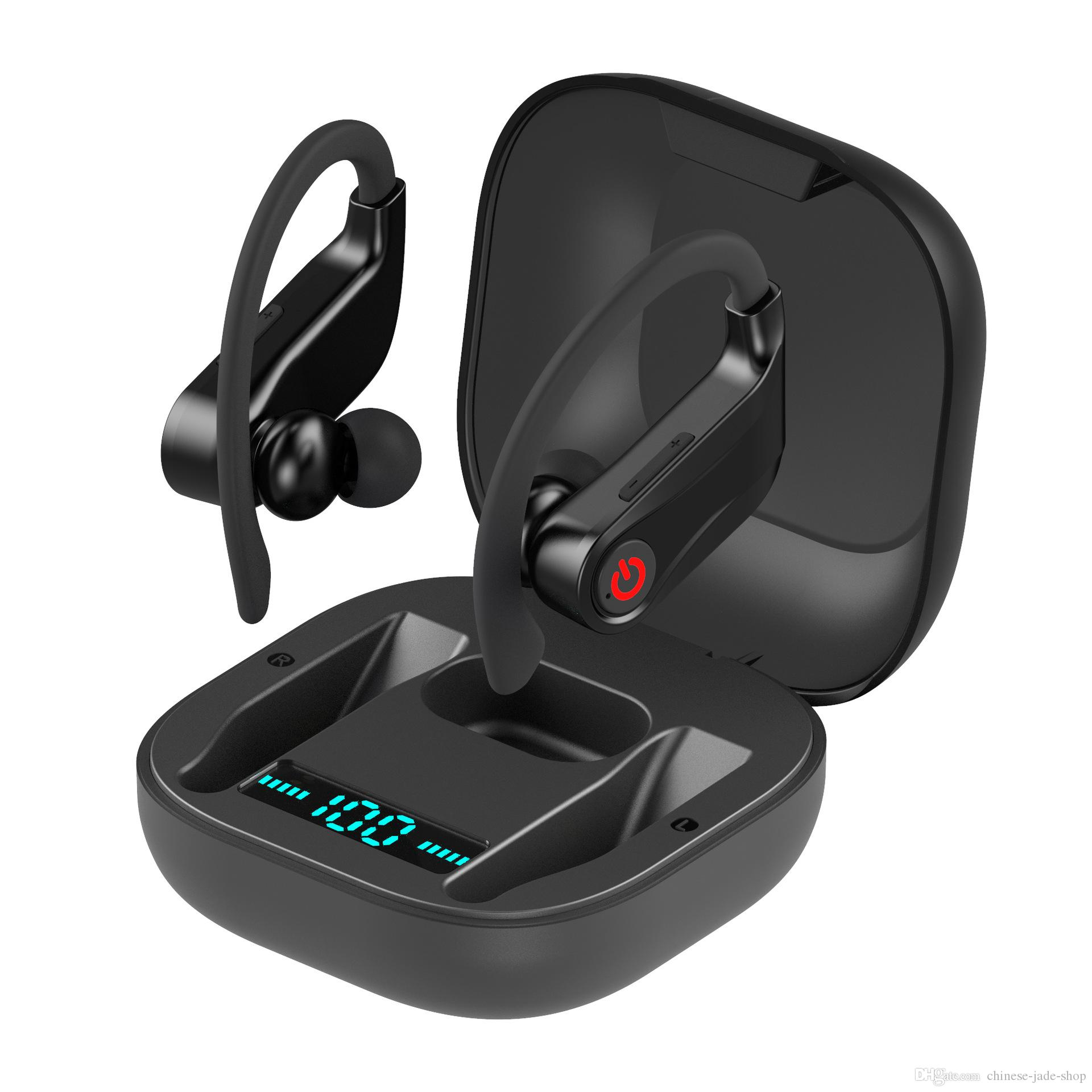 Power HBQ Pro Q62 Tws V5.0 Earphone Wireless Bluebooth Stereo Sport Ear Hook 950mah Waterproof Headsets 14pcs/lot
