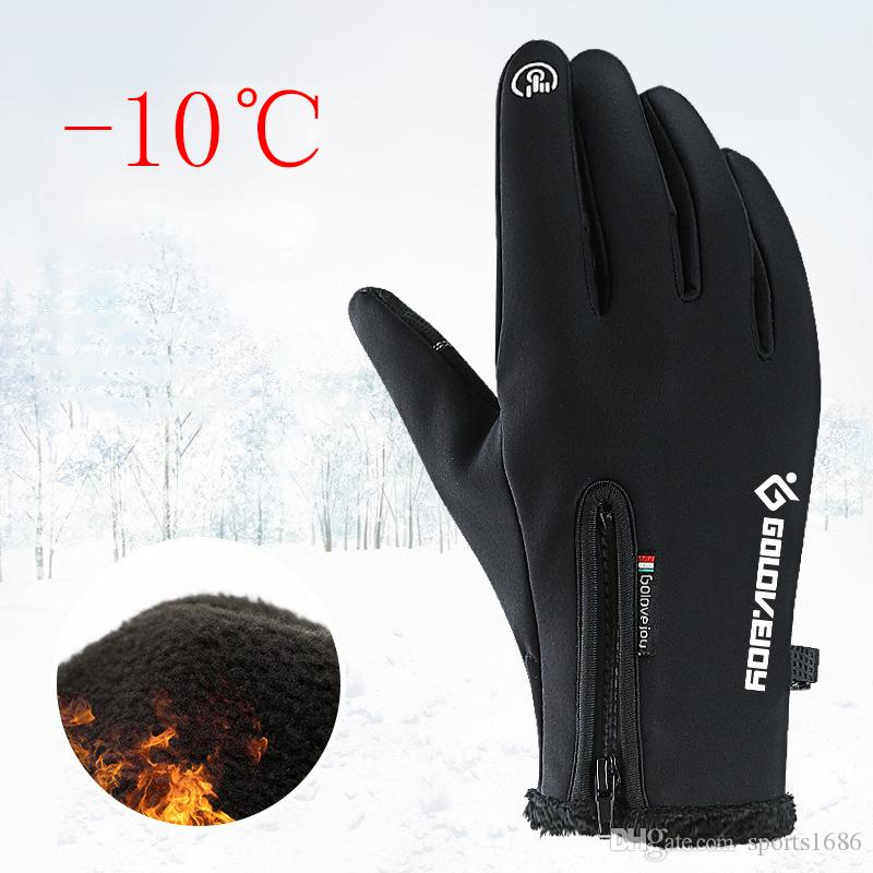 RockBros Bike Cycling Long Full Finger Fleece Thermal Warm Touch Screen Gloves
