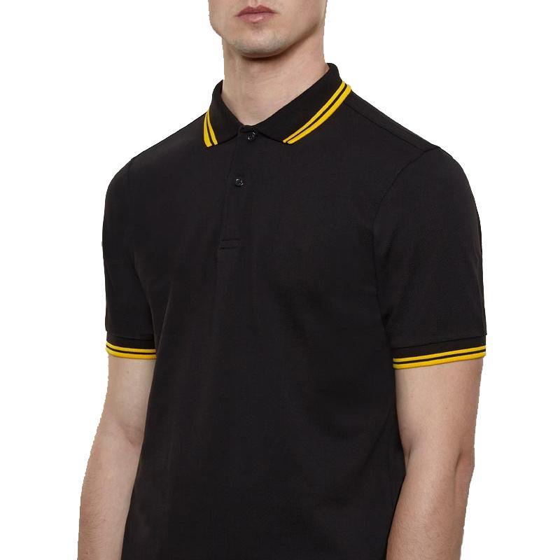 FP Модель M12 M3600 Великобритании Марка Мужчины с коротким рукавом Простые моды Классический Лорел Perriinglys Summer отворот рубашки